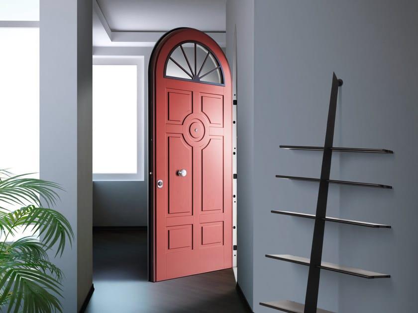 Lacquered arched okoumé safety door ELITE - 16.5059 M60Vip by Bauxt