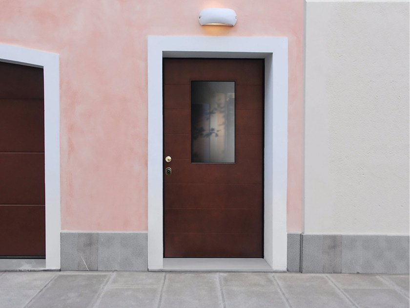 Glazed okoumé safety door SUPERIOR - 16.5037 M16 by Bauxt