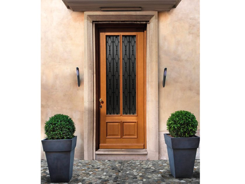 Wood and glass safety door ELITE - 16.5042 M60Vip by Bauxt