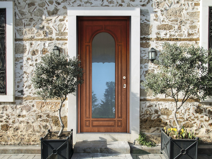 Wood and glass safety door SUPERIOR - 16.5043 M16 by Bauxt