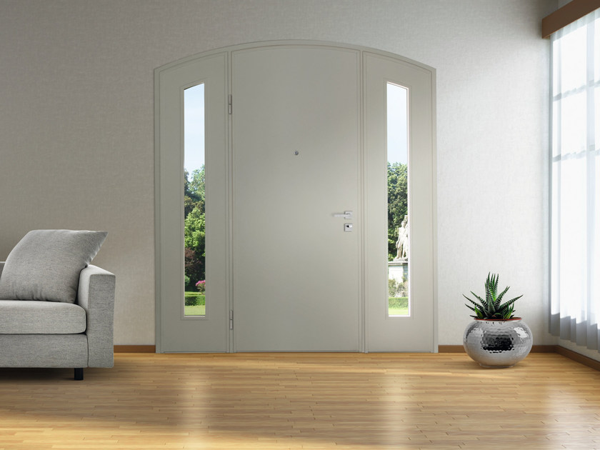 Lacquered arched MDF safety door SUPERIOR - 16.5067 M16 by Bauxt