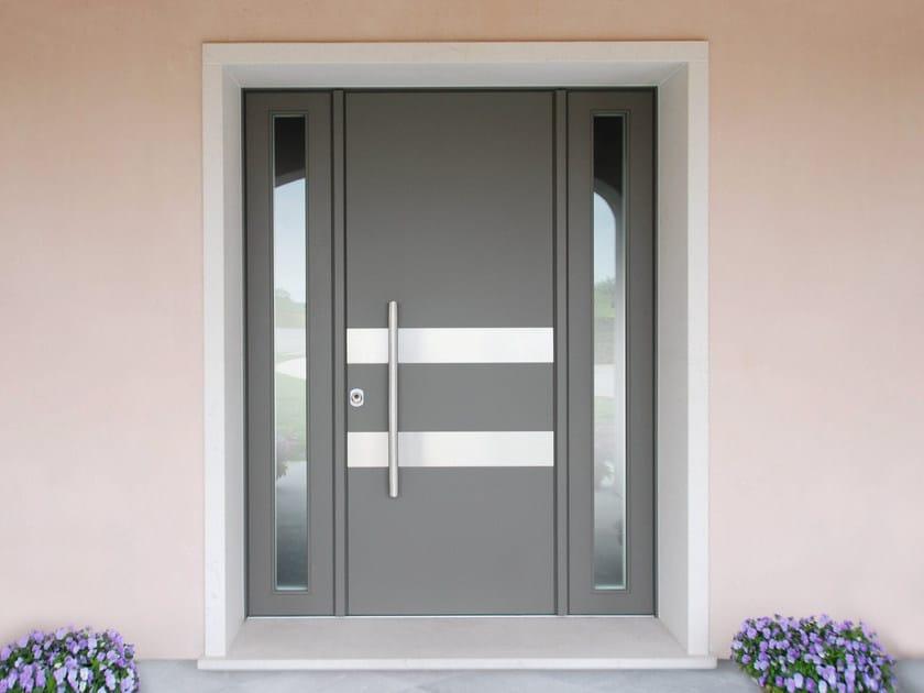 Lacquered okoumé safety door SUPERIOR - 16.5092 M16 by Bauxt