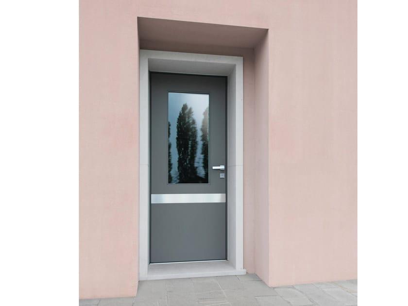 Lacquered glazed okoumé safety door SUPERIOR - 16.5093 M16 by Bauxt