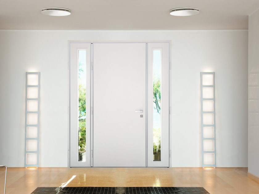 Lacquered glazed MDF safety door SUPERIOR - 16.5098 M16 by Bauxt