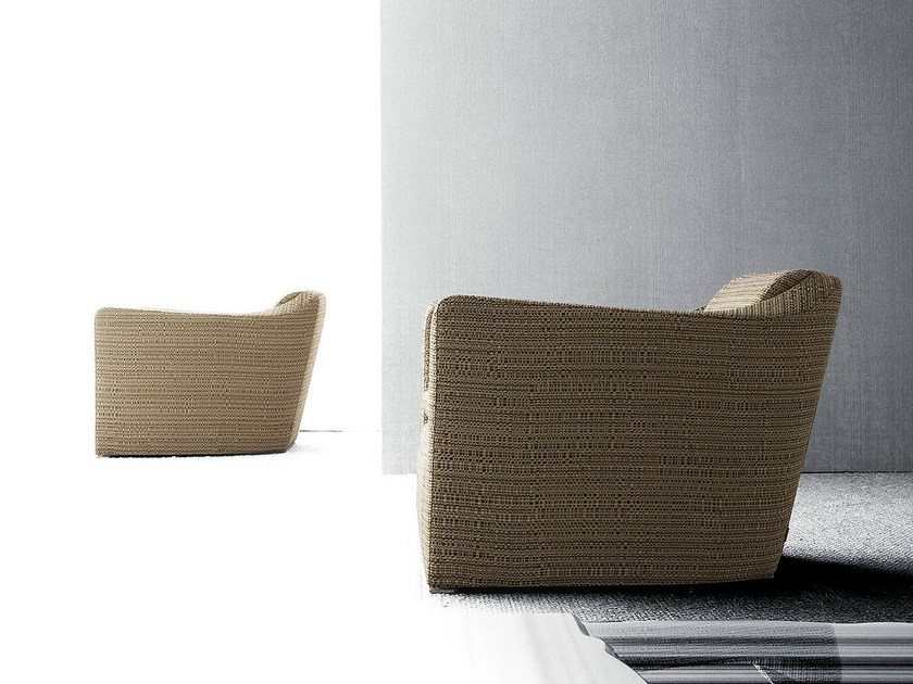 Upholstered armchair with armrests PROFILE by ERBA ITALIA