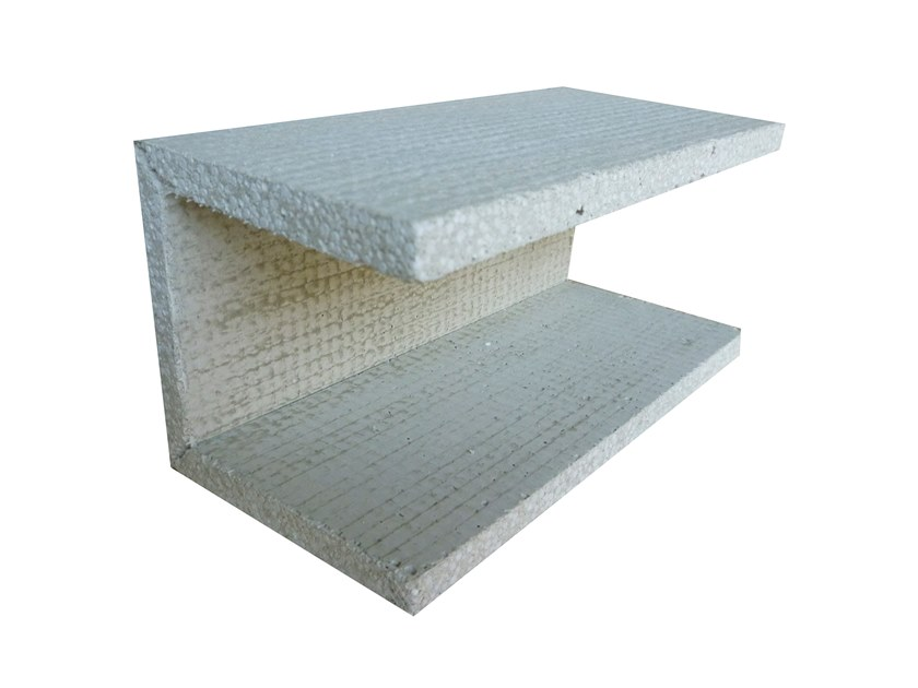 Lightweight cement cornice U 90° + 90° by Biemme