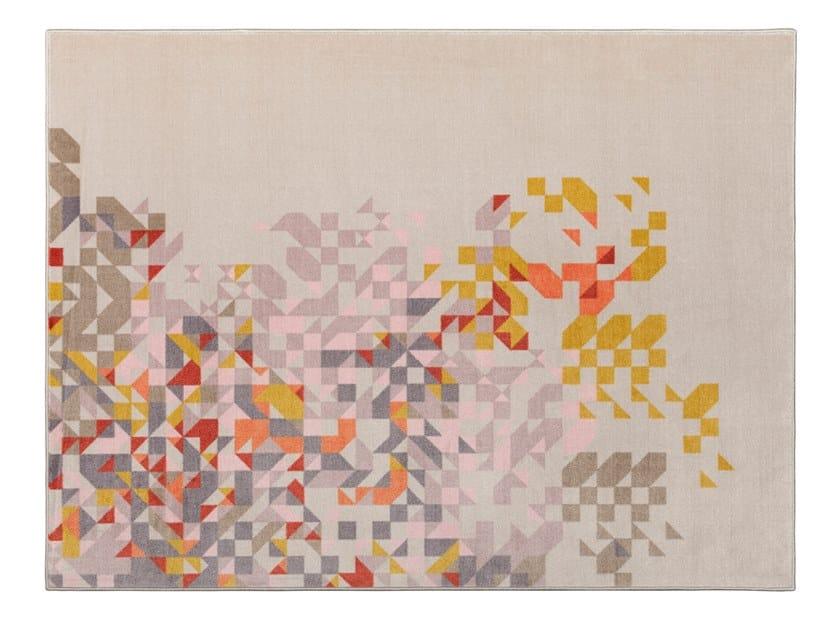 Tappeto rettangolare Jacquard stampato a tessitura PROFUMO DI LAVANDA NEW | Tappeto rettangolare by MEMEDESIGN