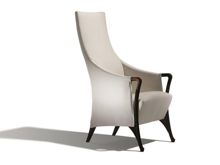High-back fabric armchair PROGETTI | Armchair by GIORGETTI