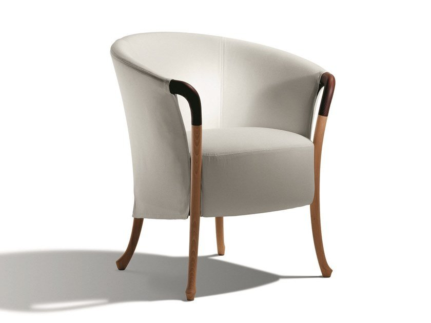 Fabric easy chair with armrests PROGETTI | Easy chair with armrests by GIORGETTI