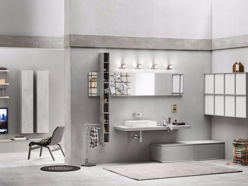 Sistema bagno componibile PROGETTO+ - Composizione 2 by INDA®