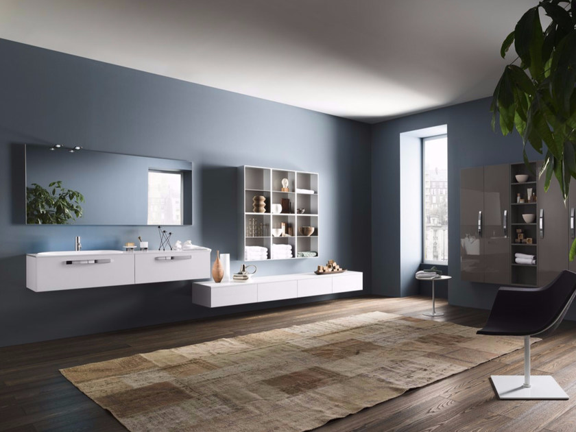 Sectional bathroom cabinet PROGETTO - Composition 3 by INDA®