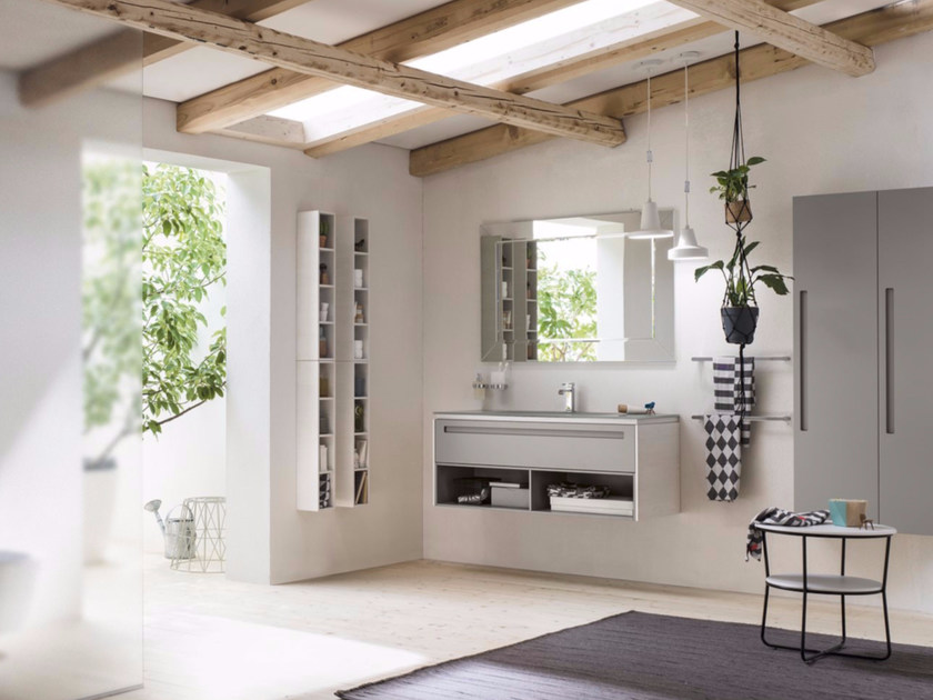 Bathroom cabinet / vanity unit PROGETTO+ - Composition 4 by INDA®