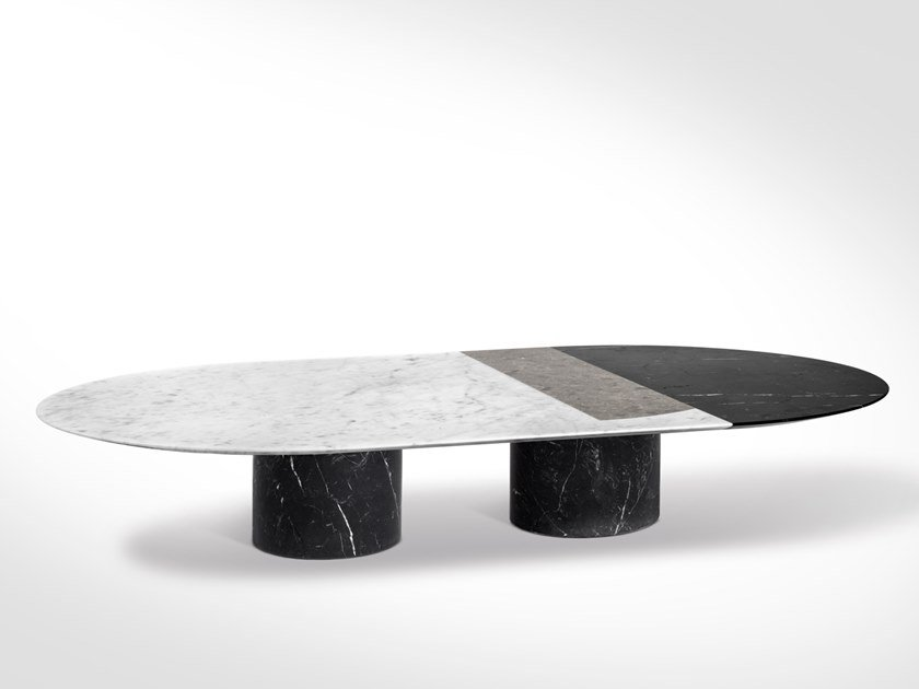 Oval Marble Coffee Table PROIEZIONI | Oval Coffee Table By SALVATORI