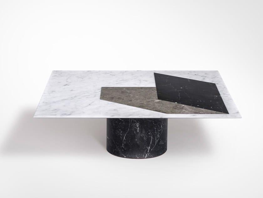 Tavolino quadrato in marmo PROIEZIONI | Tavolino quadrato by Salvatori