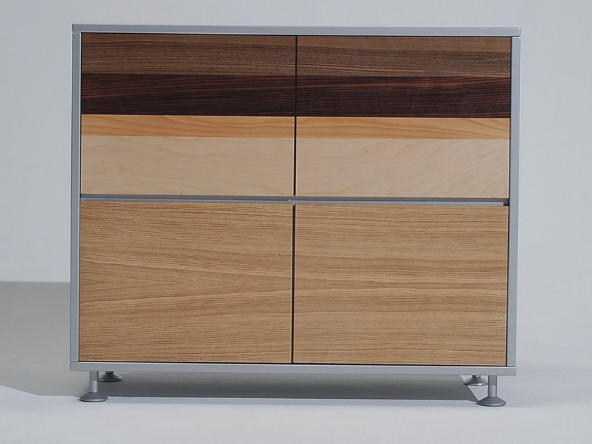 Wooden office storage unit with hinged doors PROSPERO | Wooden office storage unit by NEWTOM by Ultom