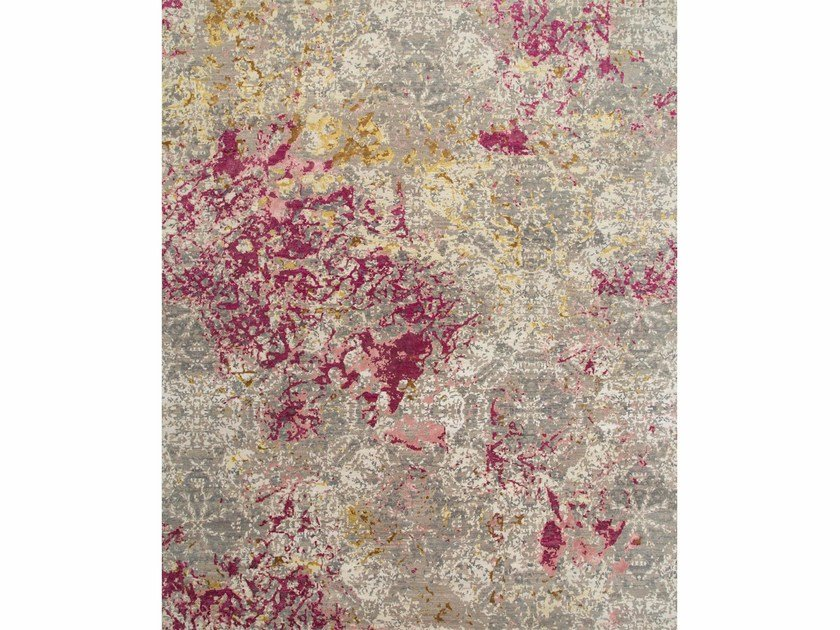 Patterned rug PROTEUS ESK-406 Soft Gray/Fuchsia by Jaipur Rugs