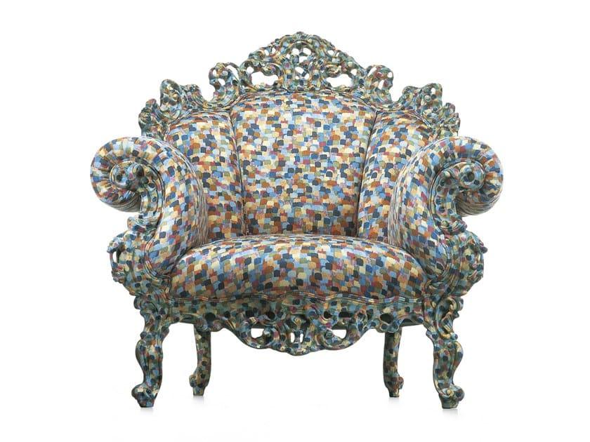 Poltrona in tessuto multicolor PROUST by Cappellini