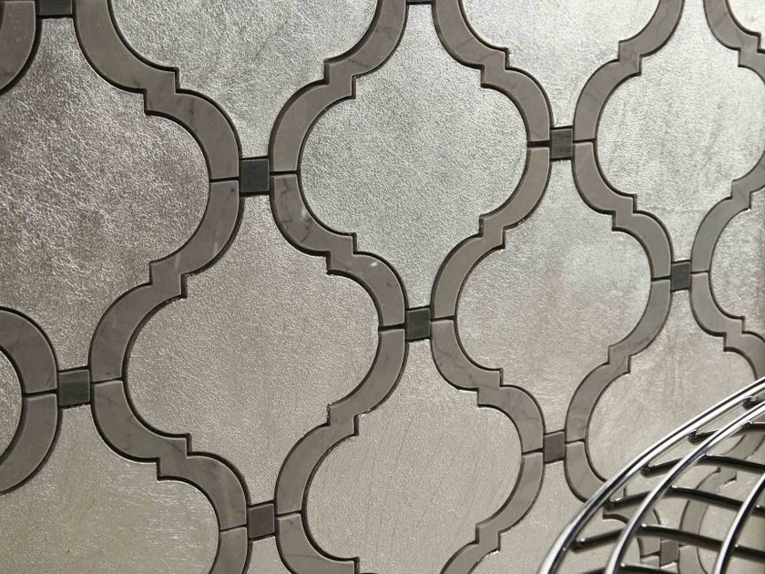 Marble mosaic PROVENCE 2 SL 10/BRD. CHIARO/BRD. SCURO by Lithos Mosaico Italia