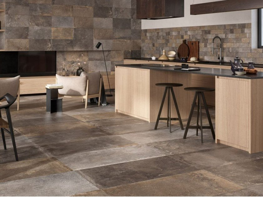 Glazed Stoneware Wall Tiles Flooring Stone Effect Provence Multicolor Provence Collection By Ceramica Rondine