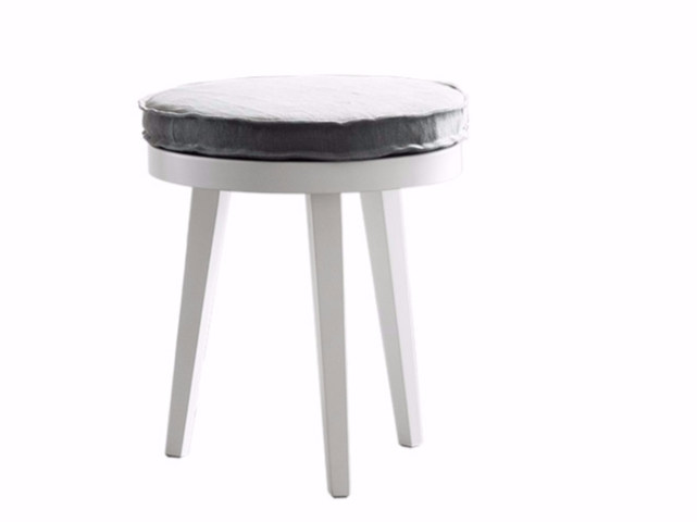 Round lacquered bedside table PROVENZA | Round bedside table by Chaarme Letti