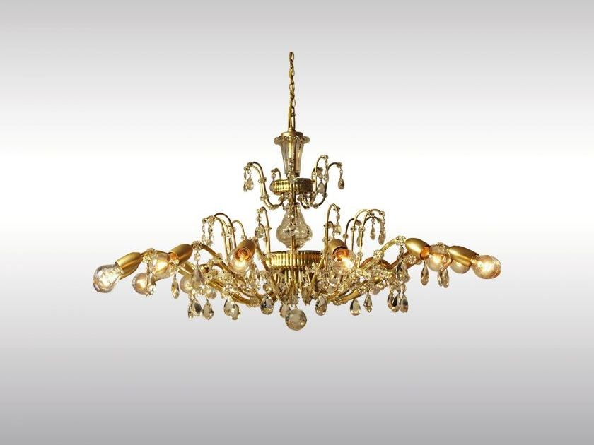 Classic style brass chandelier PRUNKLUSTER by Woka Lamps Vienna
