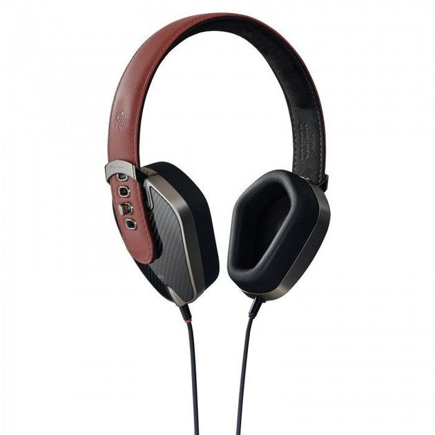 Aluminium Headphones PRYMA 01 SPECIAL CARBON MARSALA by PRYMA
