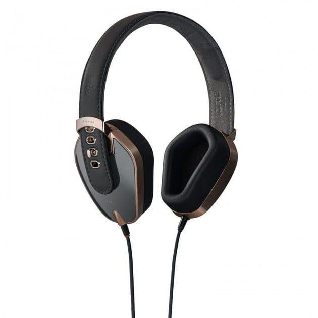 Aluminium Headphones PRYMA 01 SPECIAL ROSE GOLD & DARK GREY by PRYMA