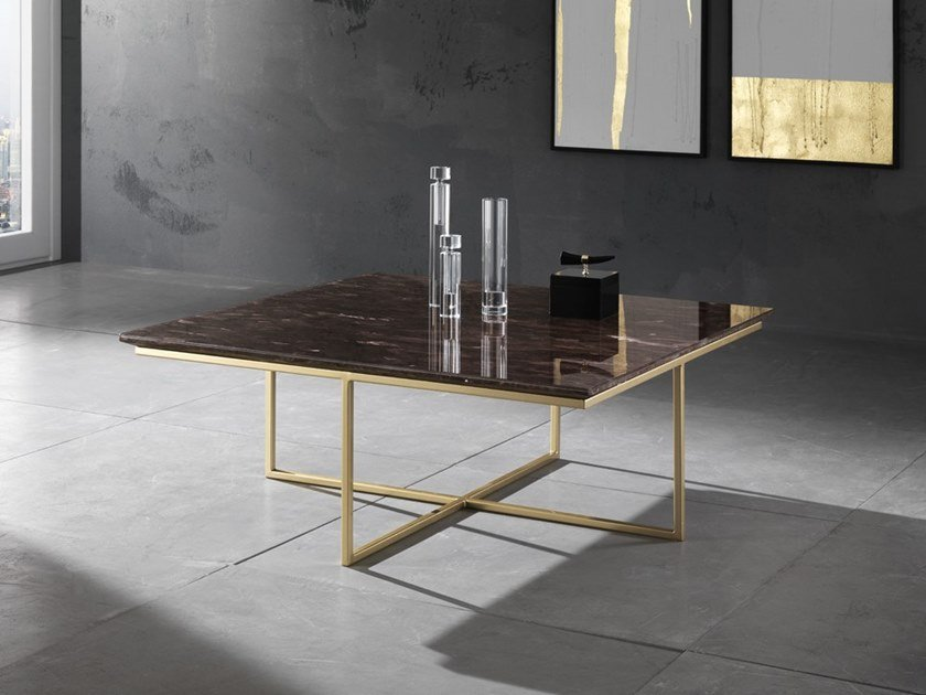 Square natural stone coffee table PRYSMA | Coffee table by Crystal Stone