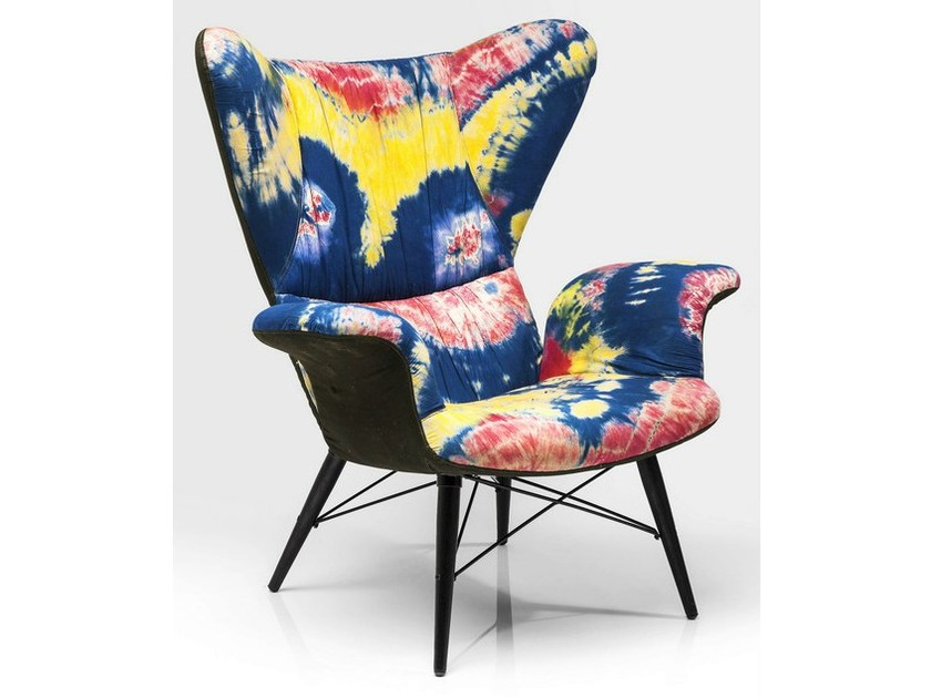 Fabric armchair with armrests PSYCHEDELIC by KARE-DESIGN
