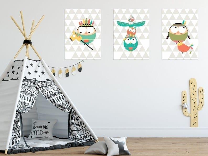 Fabric Canvas print PTITE - TOTEM by ACTE-DECO