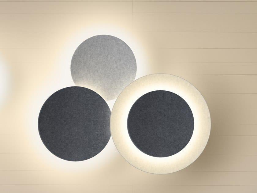 Applique a LED a luce indiretta PUCK WALL ART TRIPLE by Vibia