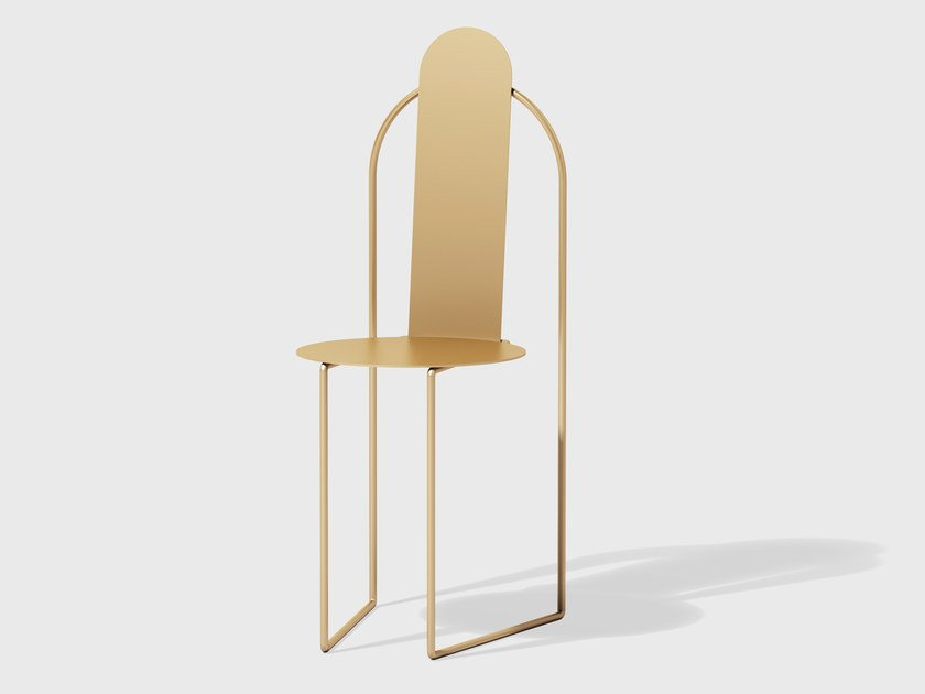 Brass chair PUDICA | Brass chair by Matter Made