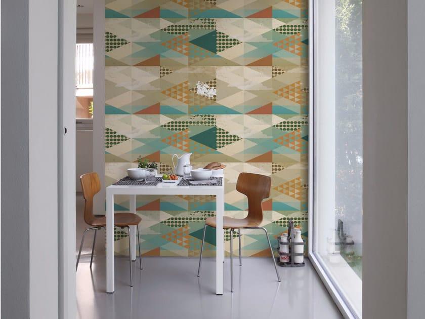 Geometric panoramic wallpaper PUEBLO by Inkiostro Bianco