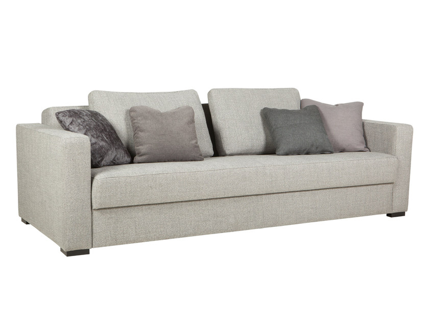 upholstered 3 seater fabric sofa bed puk by sits design niels