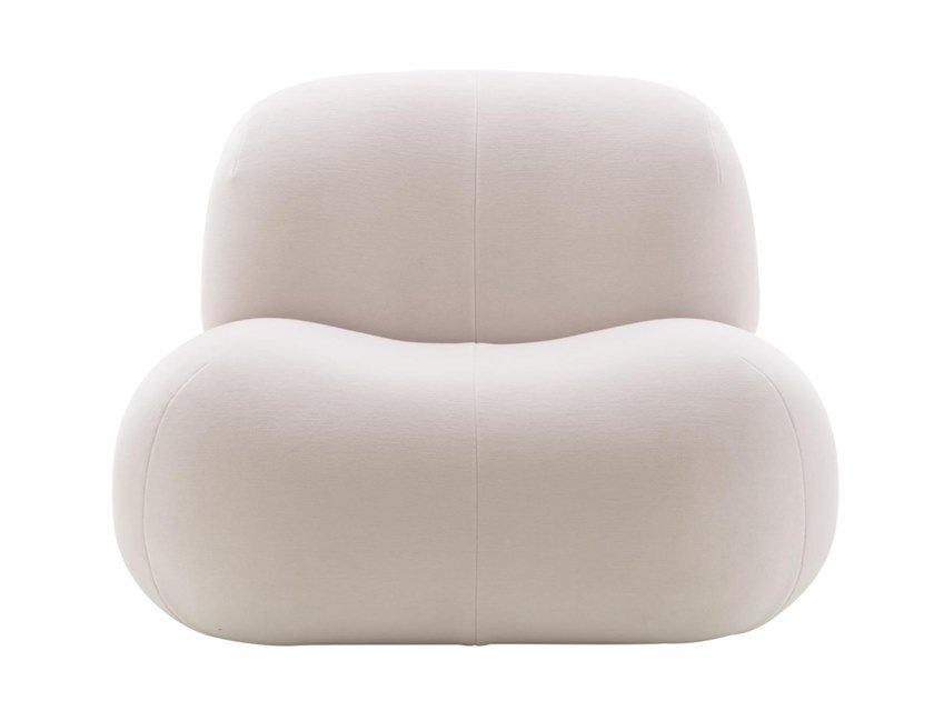 Fabric armchair with removable cover PUKKA | Armchair by Ligne Roset