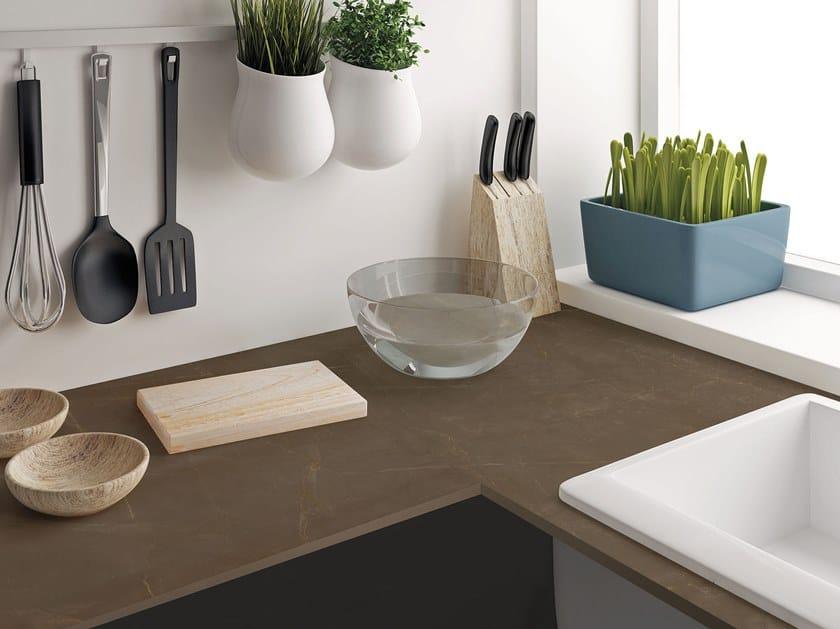 Sintered ceramic kitchen worktop with marble effect PULPIS   Sintered ceramic kitchen worktop by ITT Ceramic