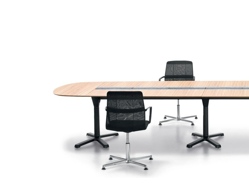 Modular Meeting Table With Cable Management PULSE | Modular Meeting Table  By Wiesner Hager