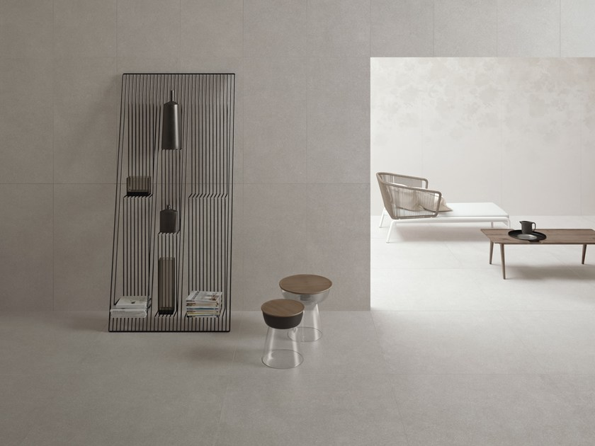 Indoor wall/floor tiles with concrete effect PULSE SILVER by CERAMICHE KEOPE