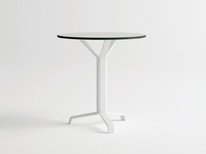 Round aluminium garden table PULVIS 3 | Round table by 10Deka