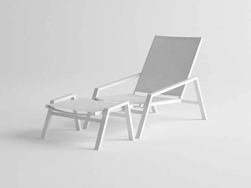 Aluminium deck chair with armrests PULVIS | Deck chair by 10Deka