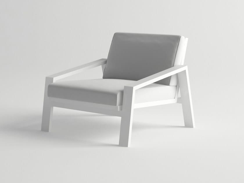 Aluminium garden armchair PULVIS | Garden armchair by 10Deka