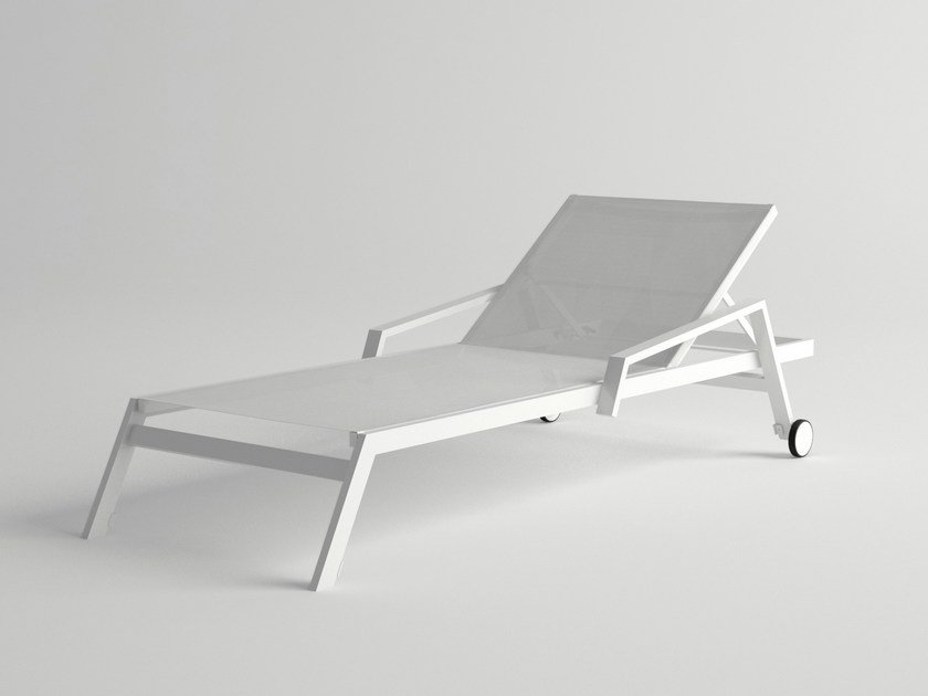 Recliner aluminium garden daybed PULVIS | Garden daybed with Casters by 10Deka