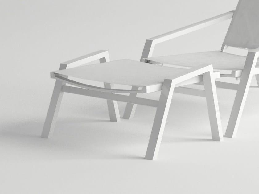 Aluminium garden footstool PULVIS | Garden footstool by 10Deka