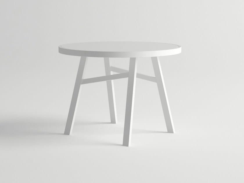 Round aluminium garden table PULVIS | Round table by 10Deka