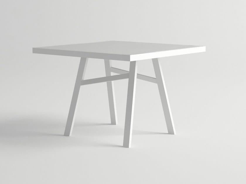 Square aluminium garden table PULVIS | Square table by 10Deka