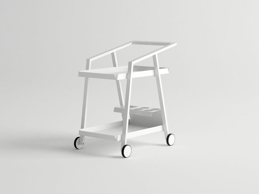 Aluminium garden trolley PULVIS | Food trolley by 10Deka