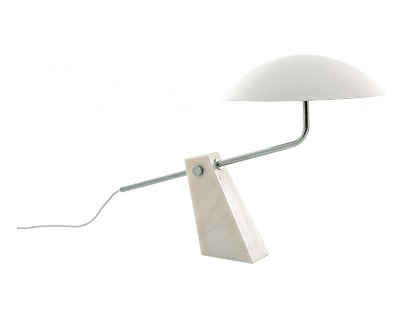 Direct light marble table lamp PUMP by Flam & Luce