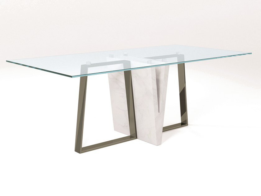 Crystal dining table PUNGOLO | Crystal table by Barel