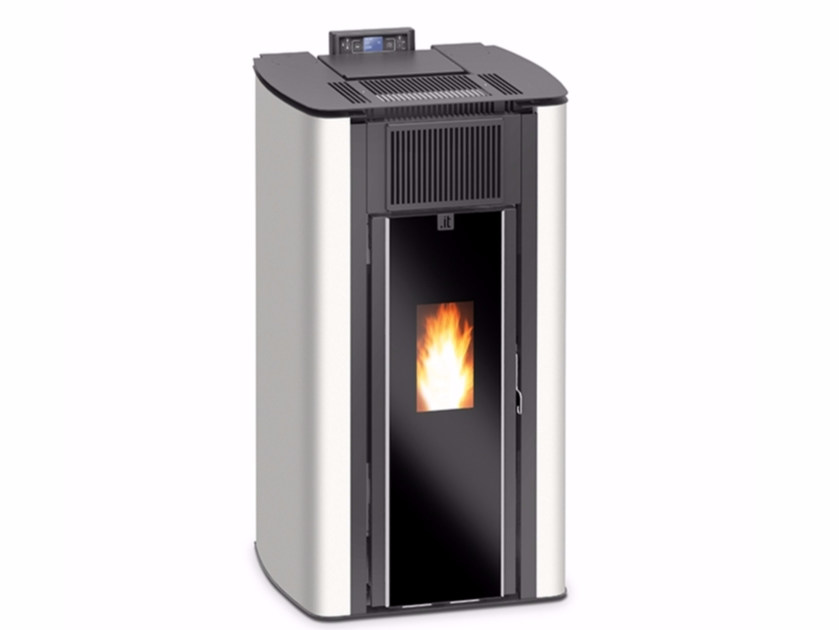 Pellet fired hydro stove PUNTO IT AQ ermetica by Unical AG