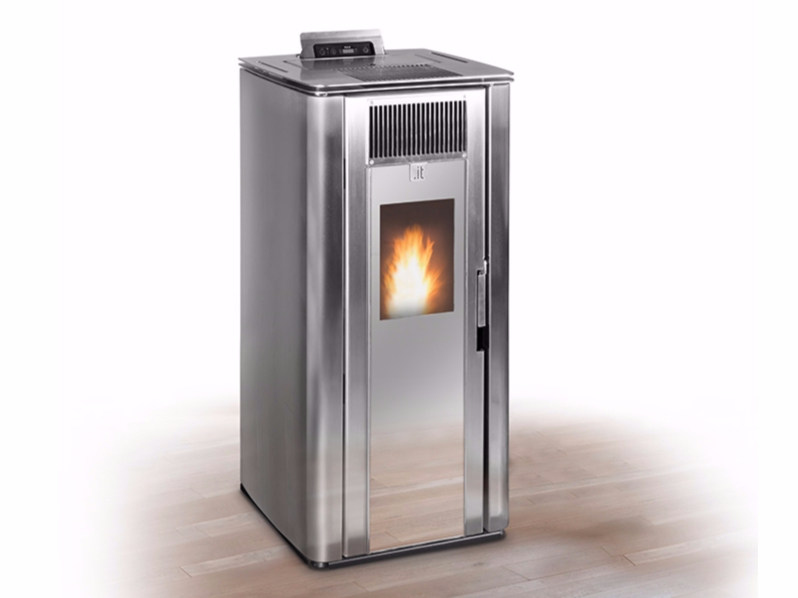 Pellet stainless steel stove PUNTO IT X by Unical AG
